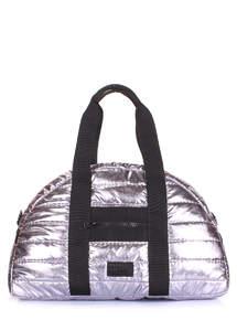 Стеганая сумка alaska-stripe-silver