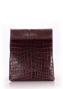 Кожаный клатч  LUNCHBOX Aligator brown