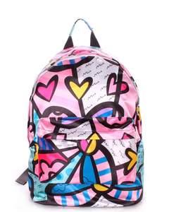 Яркий рюкзак из полиэстера backpack Blossom pink