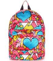 Яркий рюкзак из полиэстера backpack Blossom red