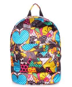 Яркий рюкзак из полиэстера backpack Blossom yellow