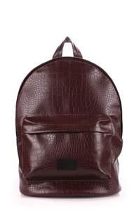 Рюкзак из кожзама croco brown
