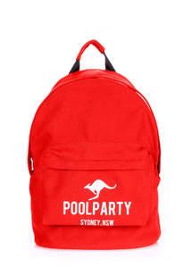 Тканевый рюкзак из хлопка Backpack Kangaroo red