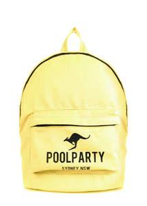 Тканевый рюкзак из хлопка Backpack Kangaroo yellow