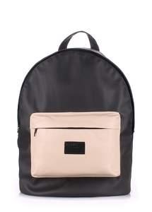 Рюкзак из кожзам Backpack Pu black-beige