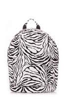 Вместительный рюкзак backpack PU Zebra