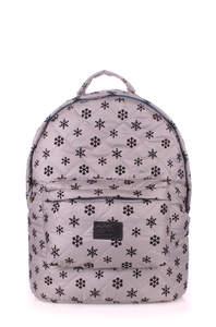Стеганый рюкзак Snowflakes grey