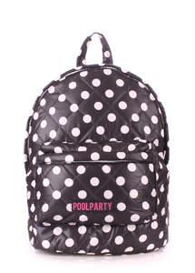 Стеганый рюкзак Dots black