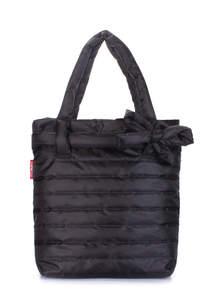 Стеганая дутая сумка pool Black Bow new