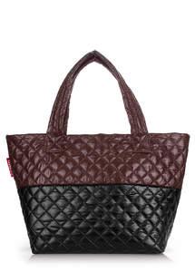Женская дутая сумка Broadway Quilted Brown black