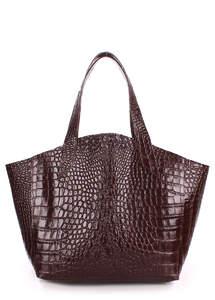 Женская кожаная сумка fiore-caiman-brown
