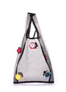 Сетчатая сумка пакет flower mesh tote