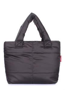 Стеганая сумка fluffy-black
