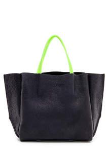 Женская кожаная сумка SOHO black green