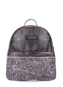 Кожаный рюкзак mini bckpck croco glitter