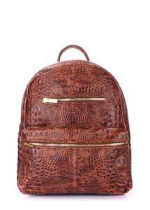 Кожаный рюкзак mini bckpck leather croco brown