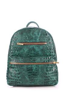 Кожаный рюкзак mini bckpck leather croco green