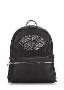 Рюкзак из кожзама mini lips black