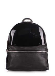Кожаный рюкзак mini transparent black