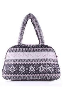Стеганая сумка со скандинавским орнаментом ns2 Nordic grey