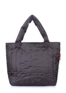 Женская дутая стеганая сумка ns8 black new