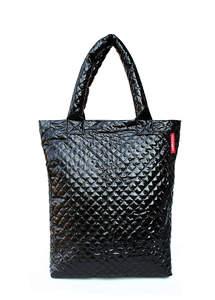 Стеганая сумка с лаковым покрытием ns3 Black