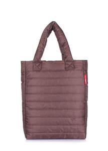 Женская дутая стеганая сумка ns3 brown new
