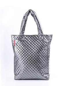 Стеганая сумка с лаковым покрытием ns3 Silver