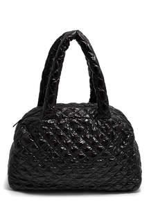 Стеганая дутая сумка ns4 black
