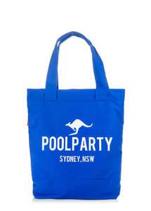 Пляжная летняя сумка из хлопка Pool1 blue