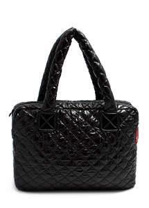 Стеганая дутая сумка pool 102 black