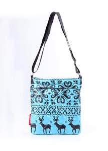 Стеганная сумка-планшет на плече pool 55 Blue
