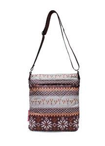 Стеганная сумка-планшет на плече pool 58 Brown