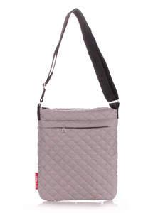 Стеганая сумка на плечо Pool59 eco grey