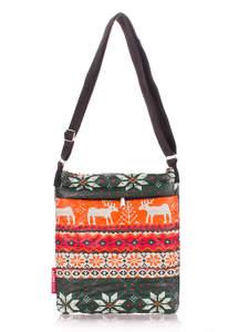 Стеганая сумка на плечо Pool59 orange deer