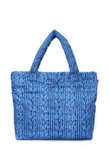 Стеганая дутая сумка pool 68 Blue Sweater