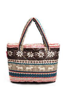 Женская стеганая сумка с оленями pool 69 Brown-grey