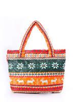 Женская стеганая сумка с оленями pool 69 Green-orange