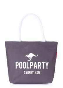 Летняя пляжная тканевая сумка Pool 9 Grey