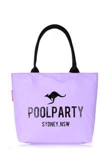 Летняя пляжная тканевая сумка Pool 9 Lilac