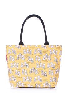 Летняя пляжная сумка с принтом pool9 Yellow Bears