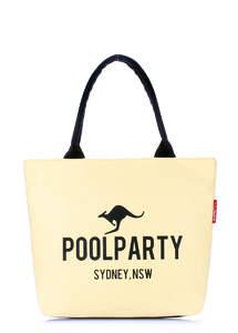 Летняя пляжная тканевая сумка Pool 9 Yellow