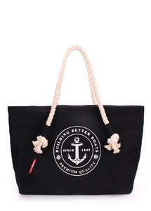 Летняя пляжная тканевая сумка Pool breeze black