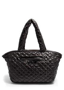 Стеганая дутая сумка pool cocoon black