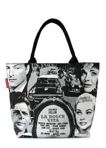 Летняя пляжная сумка с принтом DOLCE VITA Fellini