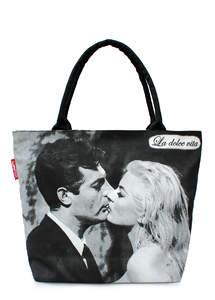 Летняя пляжная сумка с принтом DOLCE VITA Kiss