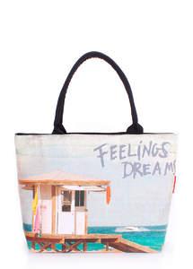 Летняя пляжная сумка с принтом Pool journey dreams