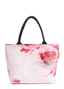 Летняя пляжная сумка с принтом Pool journey flowers