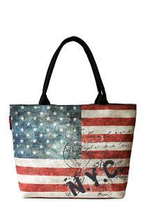 Летняя пляжная сумка с принтом NYC