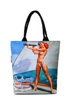 Летняя пляжная сумка с принтом Journey NAVY CHICKS